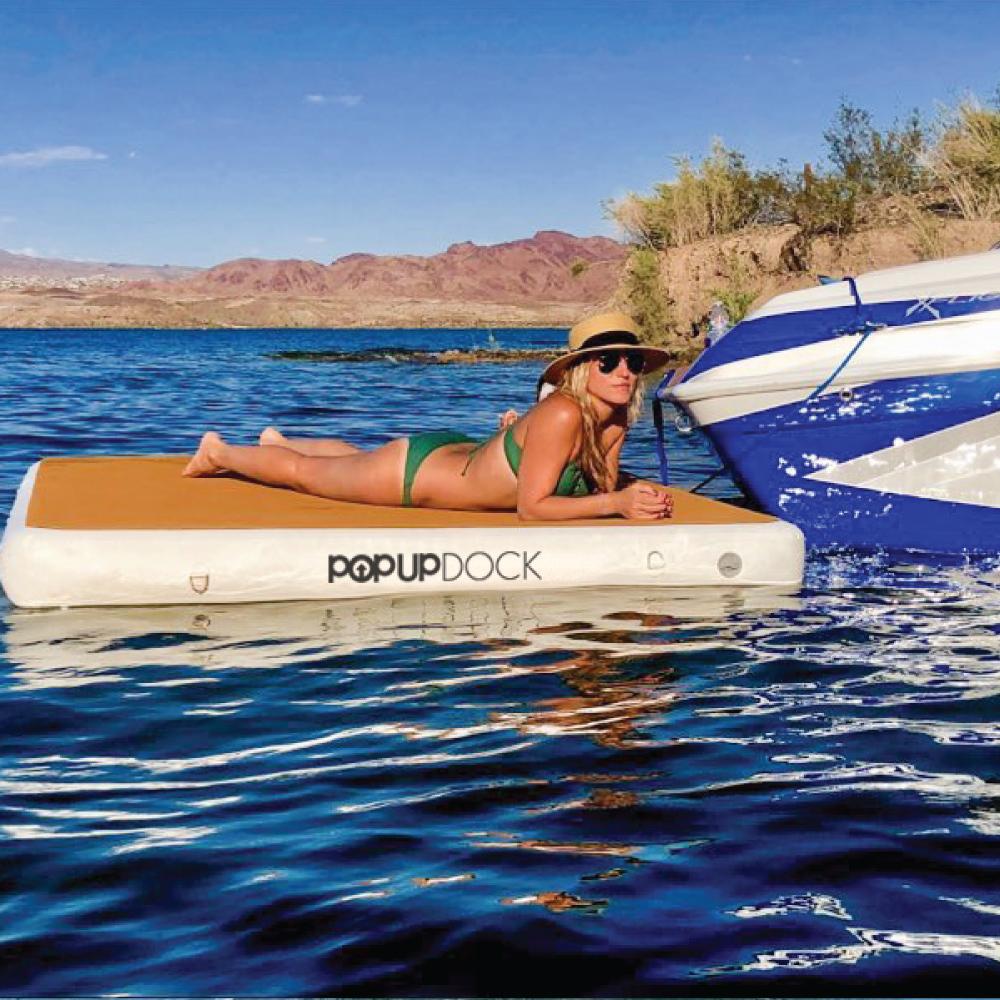 2021'POP UP DOCK INFLATABLE 新品 即納 専用キャリーストラップ付き、ポンプ付き消費税込み価格!!浮力、耐久性抜群!!