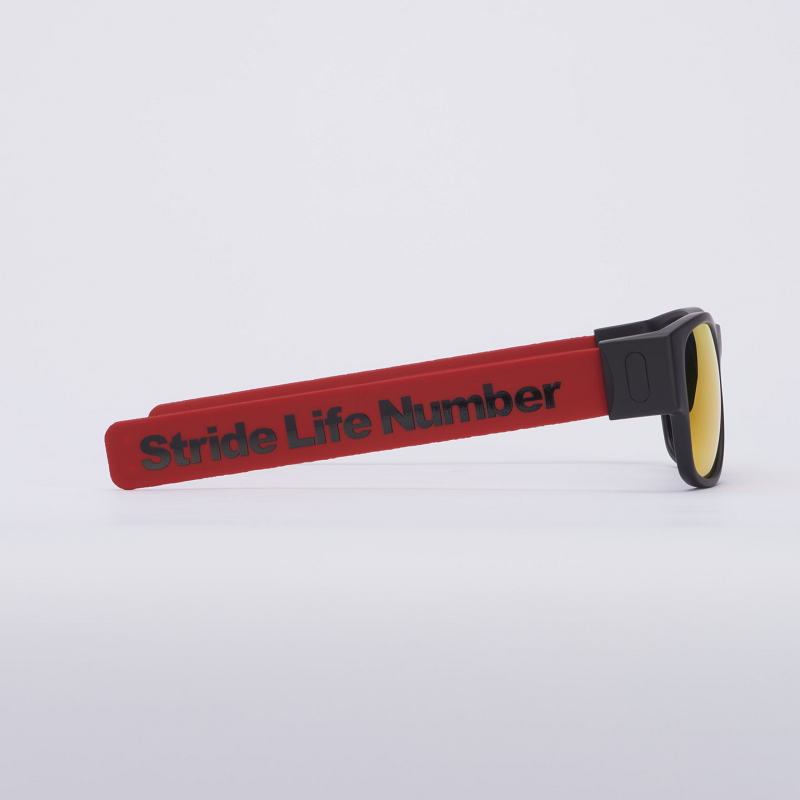 Stride Life Number [Red] 折りたたみ サングラス