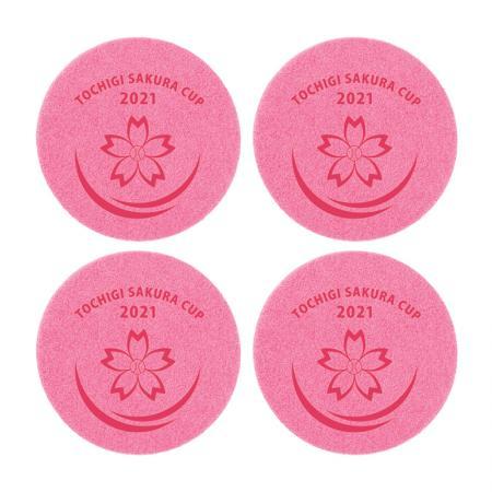栃木さくらカップ2021×Shibaful コースター(4枚セット)