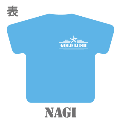 GOLD LUSH 2020 SEASON Tシャツ型クッション