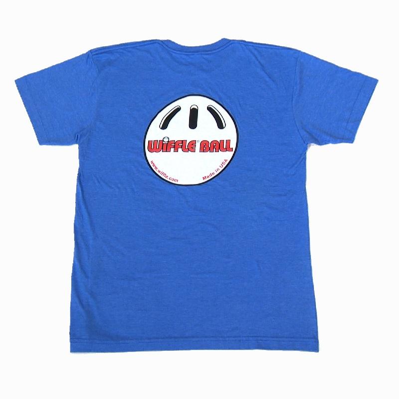 ウィッフルボール ロゴ入り Tシャツ ブルー WIFFLE Ball