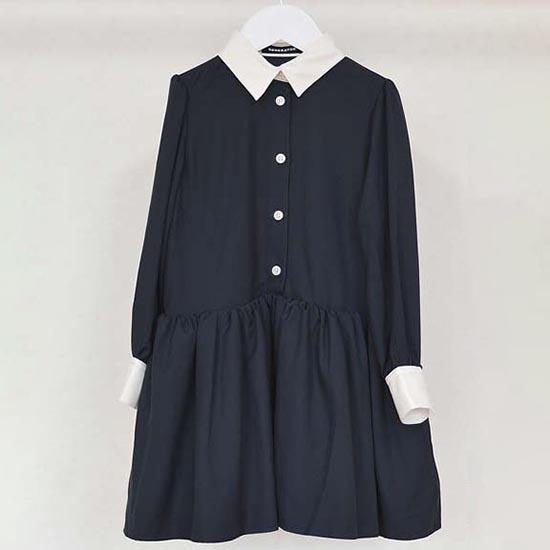 30%OFF SALE 入学式 スーツ ジェネレーター 子供服 generator 長袖ドレスワンピース(ネイビー) 110cm/120cm/130cm(056801) 女の子 入学式