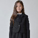 30%OFFセール generator ジェネレータースーツ 子供服 GIRLS 1B ガールズスリムフィットテーラードジャケット(BK)150cm/160cm 卒業式 女の子