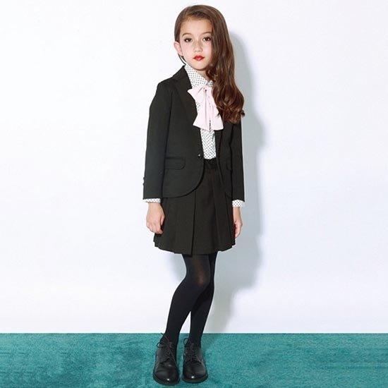 30%OFFセール generator ジェネレーター スーツ プリーツスカート(ブラック)(150cm/160cm) (048202)子供服 卒業式 スーツ 女の子 フォーマル