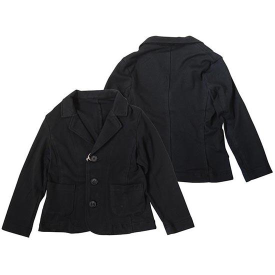 35%OFFセール 日本製 パーティーチケット 子供服 フォーマル カットソー スーツ(ブラック)上下セット 110cm 120cm 130cm 入学式 男の子 七五三