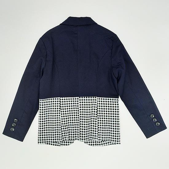 30%OFFセール ジェネレーター スーツ 子供服 バイカラー2ボタンテーラードジャケット(ネイビー)110cm/120cm/130cm GENERATOR 入学式ジャケット