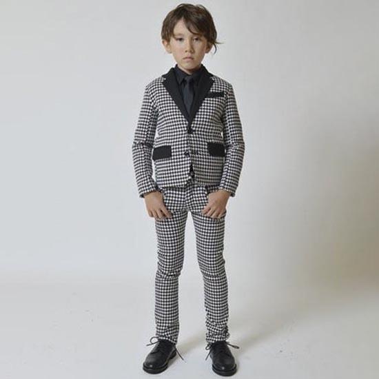 30%OFFセール ジェネレーター スーツ 子供服 千鳥テーラードジャケット110cm/120cm/130cm/140cm 入学式 子供 スーツ 男の子