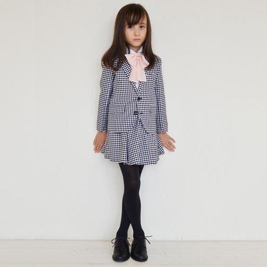 35%OFFセール ジェネレーター スーツ 子供服 ギンガムテーラードガールズスーツ上下2点セット(ジャケット/スカート)(110cm-140cm) (012104/056202) 入学式 女の子スーツ 入学式 子供服 ジェネレーター フォーマルスーツ