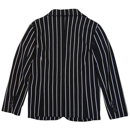 30%OFFセール ジェネレータースーツ 上下セット 子供服 ブラックストライプ2Bテーラードジャケット上下2点セット(ジャケット/パンツ)(110cm-140cm) (072105/072205) 入学式 男の子スーツ 入学式 子供服 ジェネレーター フォーマルスーツ