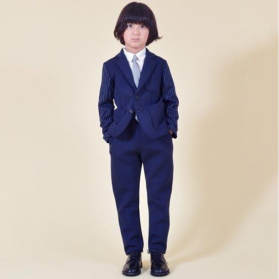 35%OFFセール ジェネレーター スーツ ダブルフェイス スーツ ポンチ (上下セット)NV 110cm 120cm フォーマル 男の子 子供服 入学式 918110 ジェネレーター 子供服 セール