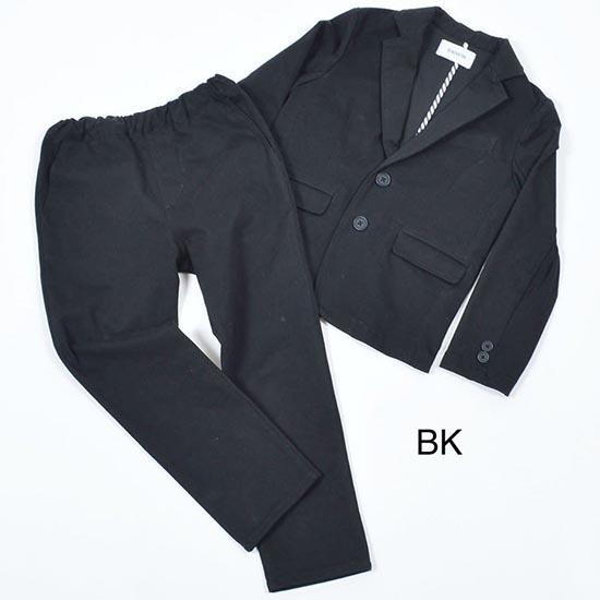 50%OFFセール generatorジェネレータースーツ 子供服 2Bツイルストレッチスーツ(上下セット)(BK) 110cm-160cm(900301BK)フォーマル入学式 卒業式 スーツ 男の子 七五三