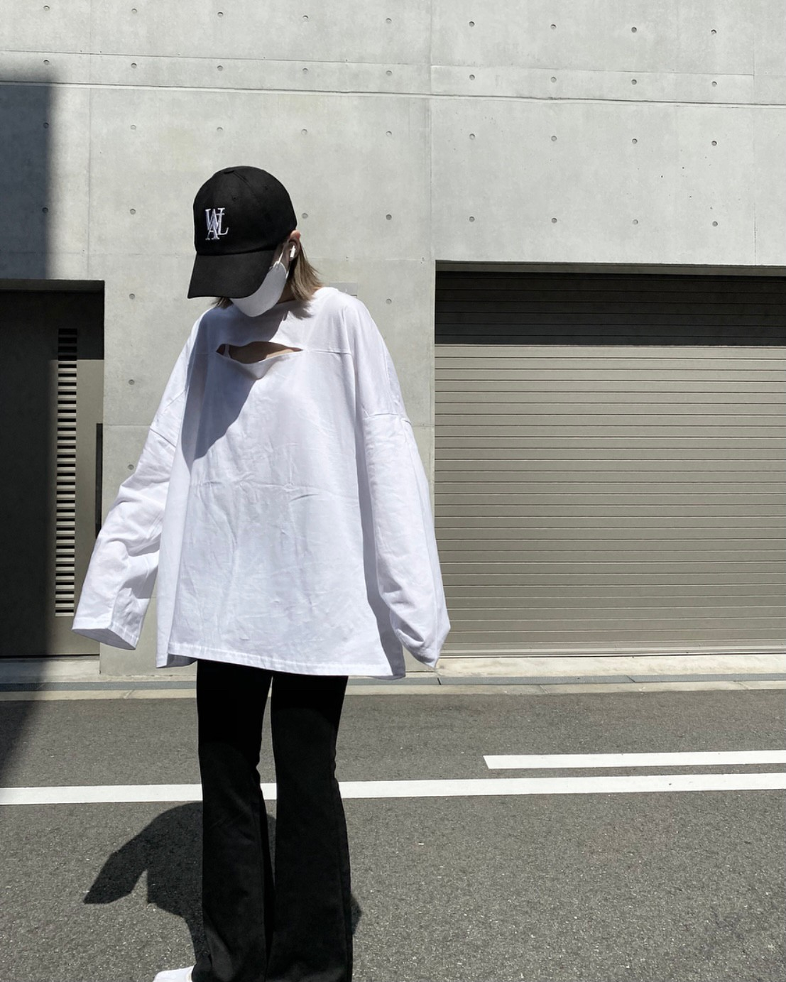front open long sleeve t-shirt