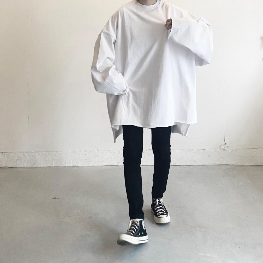 cutoff over size long t-shirt