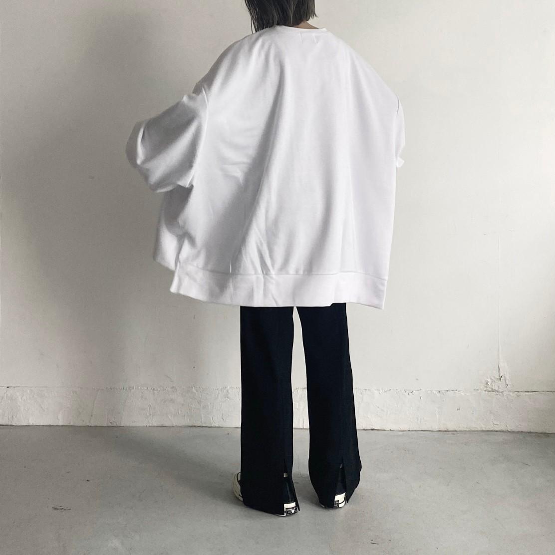 wide sleeve long t-shirt