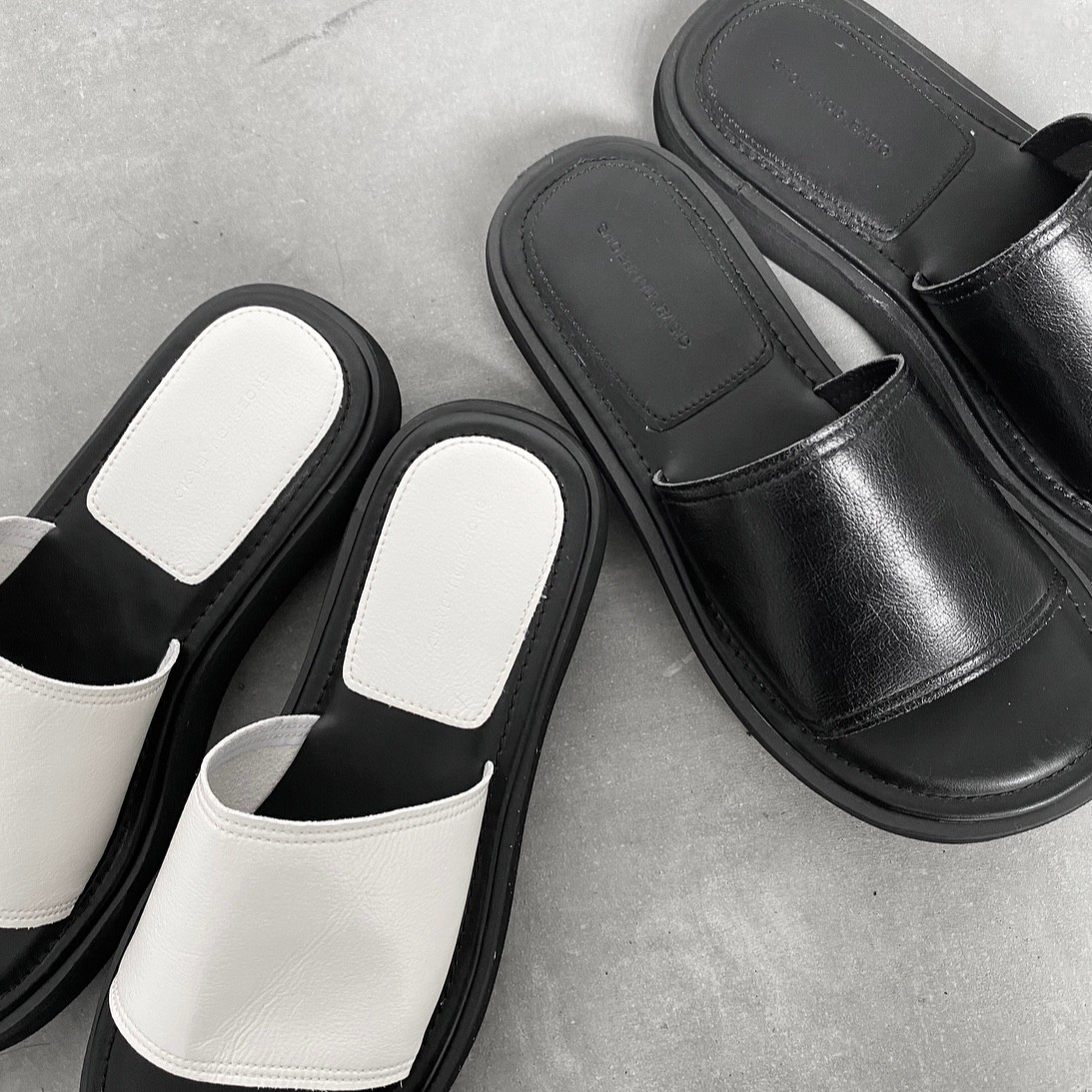fake leather platform  sandal