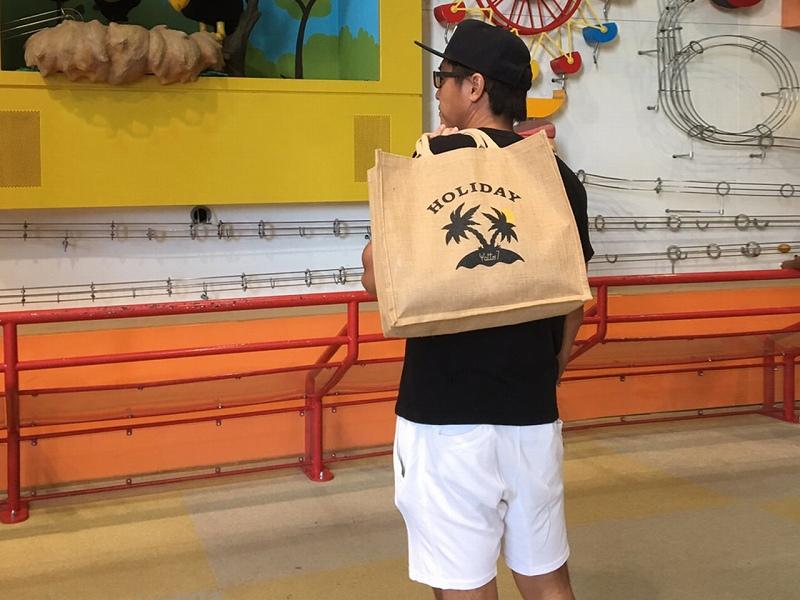 HOLIDAY-JUTE BAG