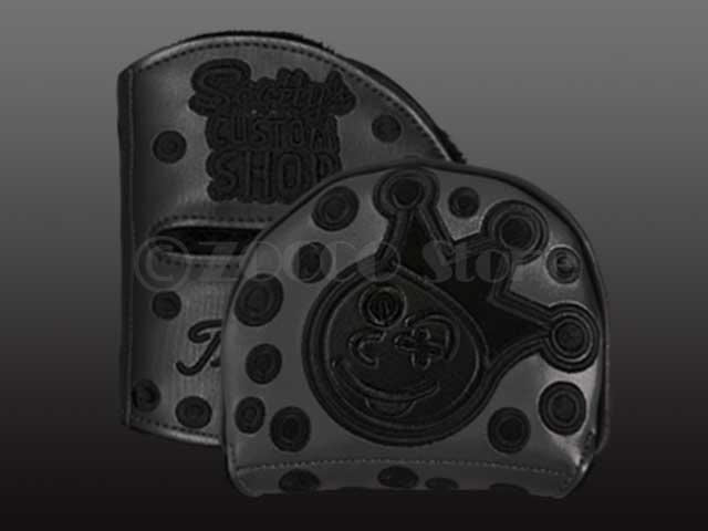 【メーカー製造終了モデル】SC Customshop Mid Round Center Shaft Headcover - Jackpot Johnny - Triple Black スコッティキャメロン カスタムショップ フューチュラ センターシャフトヘッドカバー