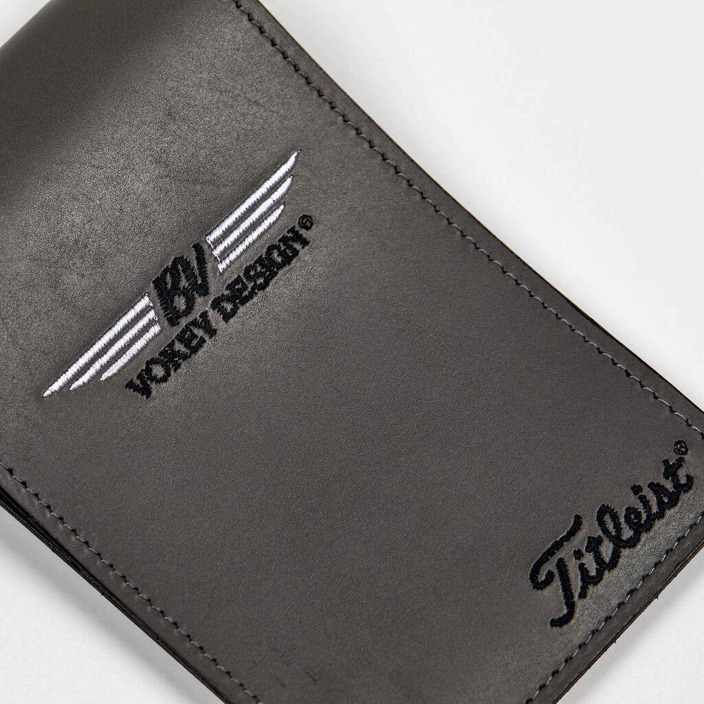 【日本未発売限定品】ボーケイ レザーヤーデージブックカバー - グレー VOKEY DESIGN Limited Leather Yardage Book & Scorecard Holder - GRAY