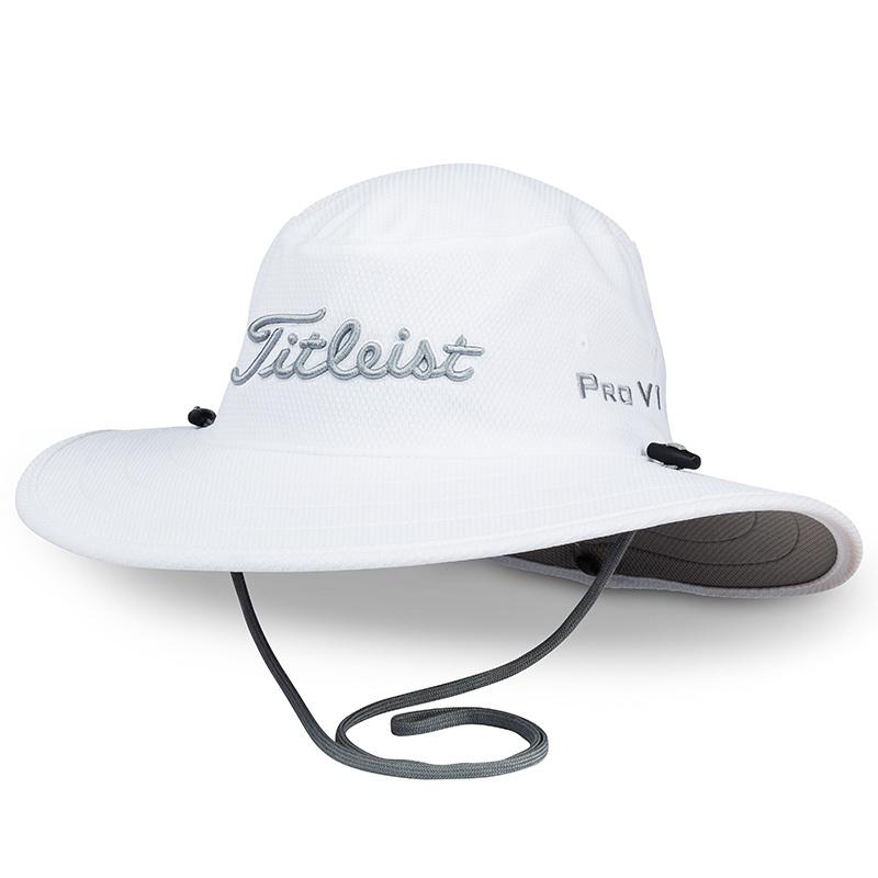 【再入荷】タイトリスト ツアー オージーハット  - ホワイト/グレイ - Titleist Men`s Tour Aussie Hat - White/Gray