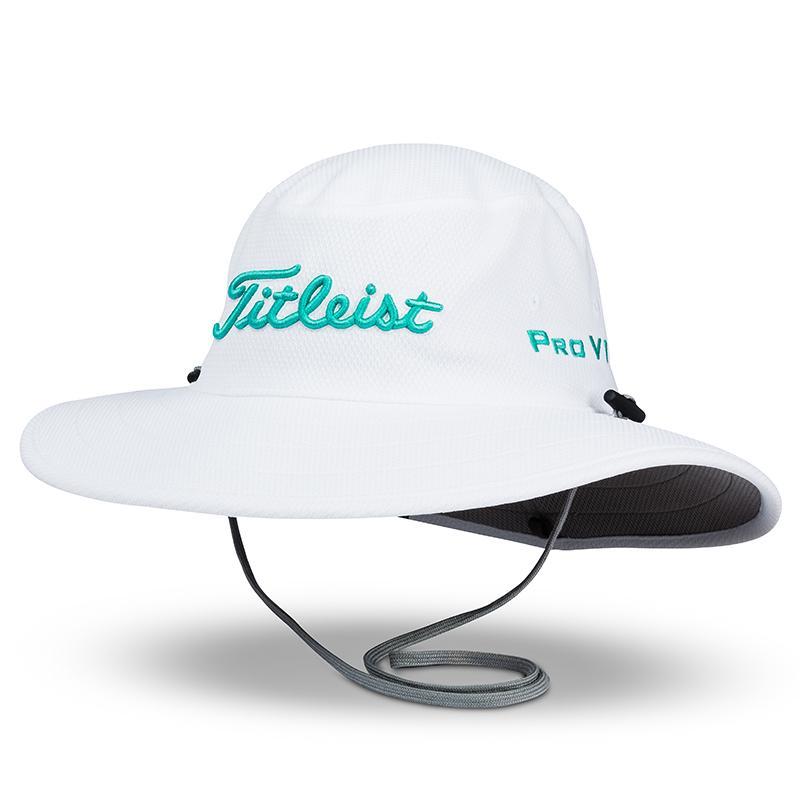 タイトリスト ツアー オージーハット  - ホワイト/ティール - Titleist Men`s Tour Aussie Hat - White/Teal
