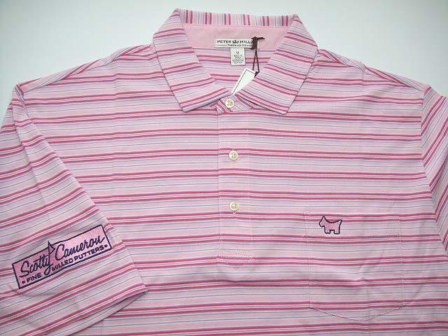【Mサイズのみ在庫有】スコッティキャメロン スコッティドッグ カリフォルニアギャラリー限定 ポロシャツ SCOTTY CAMERON Polo Shirt SCOTTY DOG - Pink/Pink