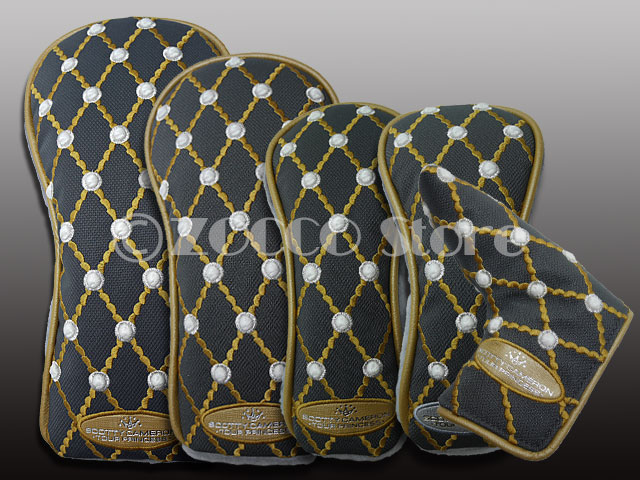 【SALE】【セット品】SCOTTY CAMERON Gallery Limited Wood Headcover 5 Set - Tour PrincessGray - スコッティキャメロン ツアープリンセスヘッドカバーセット