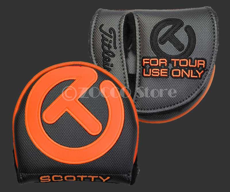 【プライスダウン】INDUSTRIAL Circle T Tour Large Mallet Headcover - Gray/Orange SCOTTY CAMERON スコッティキャメロン ツアーオンリー X5/X7/5W/5M ヘッドカバー