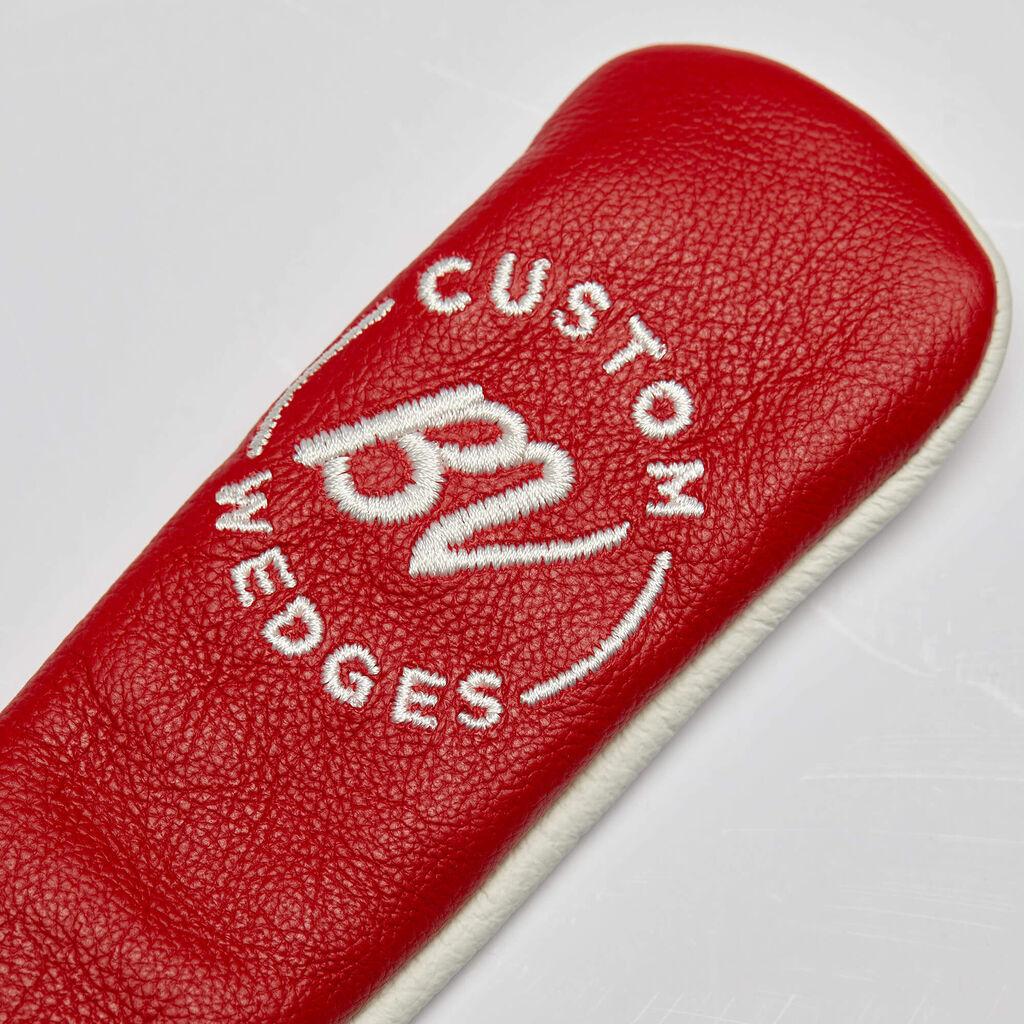 【数量超限定品】 ボーケイ/タイトリスト レザー アライメントスティック ヘッドカバー - レッド/ホワイト BV Alignment Stick Leather Headcover Red&White