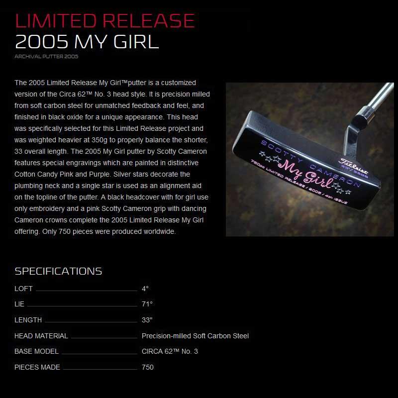 【世界750本リミテッド】2005 マイガール リミテッド パター スコッティキャメロン 2005 My Girl Limited Putter SCOTTY CAMERON