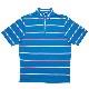【SALE】【Sサイズのみ在庫あり】BV Limited FJ Lisle Stripe w/ Self Collar - Sapphire Blue + Pink Azalea/White ボーケイ 限定ポロシャツ ブルー+ピンク/ホワイト