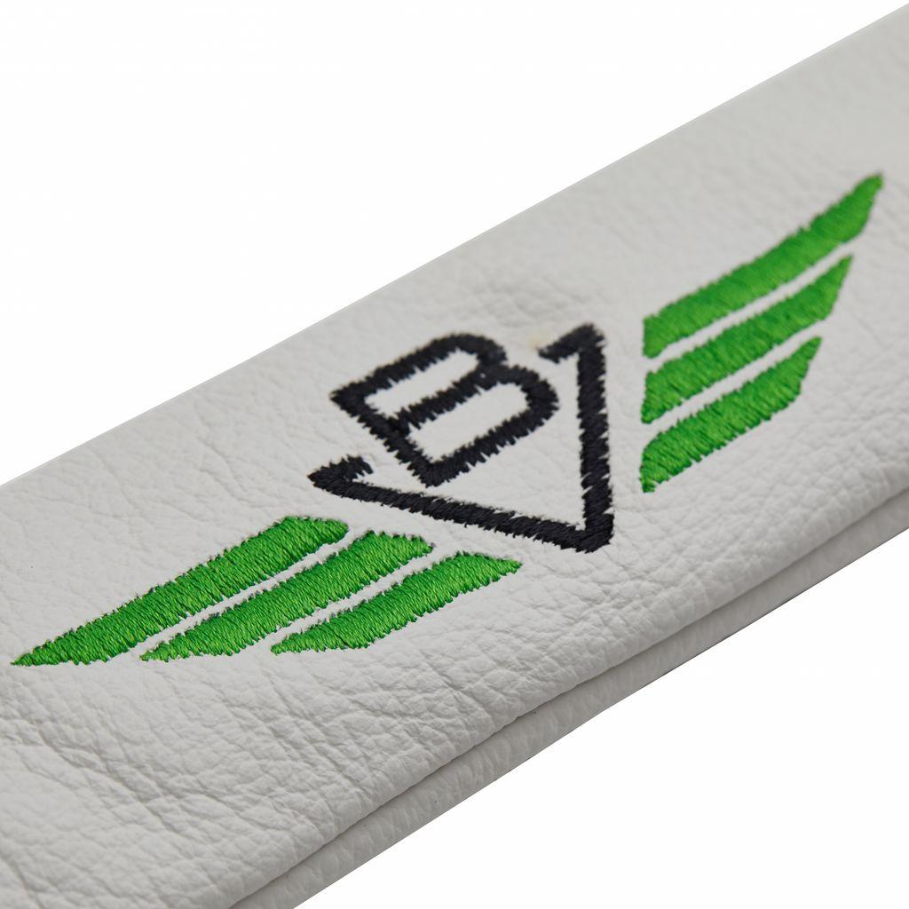 【数量限定品】Vokey/Titleist Alignment Stick Cover - White/Green - White タイトリスト ボーケイ アライメントスティック プレミアムレザーヘッドカバー