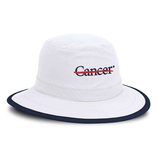 【初入荷】ジョエル・ダーメン インペリアル エンド キャンサー ハンプトン サンプロテクション ハット - ホワイト/ネイビー - Joel Dahmen Imperial The End Cancer Hampton Sun Protection Hat