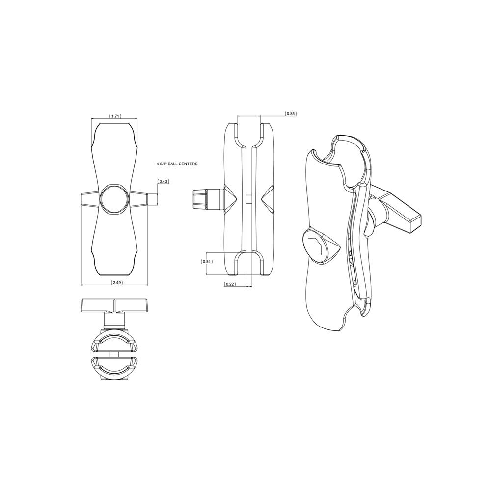ダブルソケットアーム M 1.5インチ
