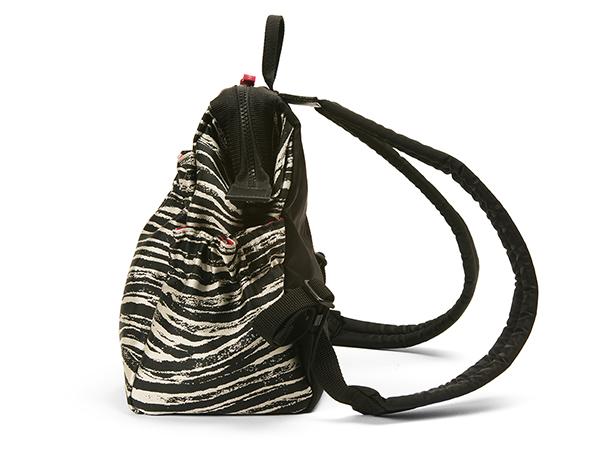 【アウトレット】ワイドオープン・コンパクトリュック<Zebra Chic(ゼブラ・シック)> KG2ZB-604