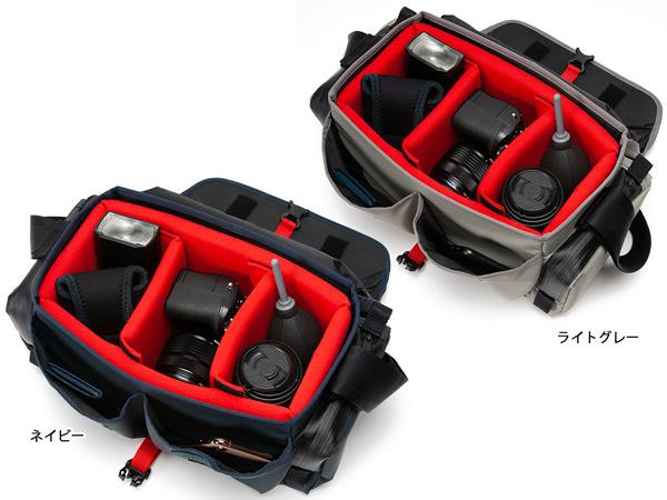 【アウトレット】レンズ付一眼+換えレンズ一本を収納するスポーティなカメラバッグ<ウォータープルーフ・ビビッド> WCAM-9500