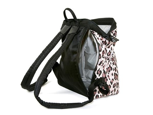 ワイドオープン・コンパクトリュック<Charming Leopard(チャーミング・レオパード)> KG2LE-604