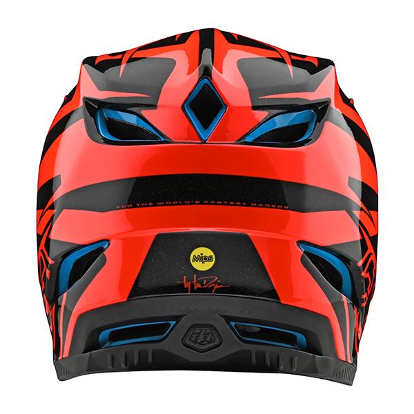 トロイリーデザインズ D4コンポジット ヘルメット スラッシュ オレンジ/ブラック