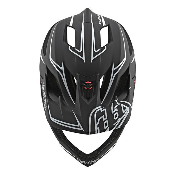 トロイリーデザインズ ステージ ヘルメット ピンストライプ ブラック/ホワイト