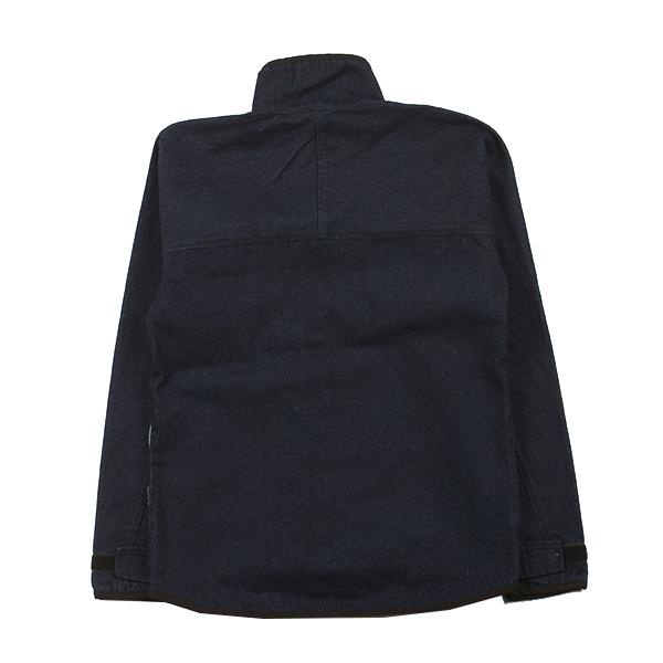 カブー メンズ フルジップ スローシャツ デニム