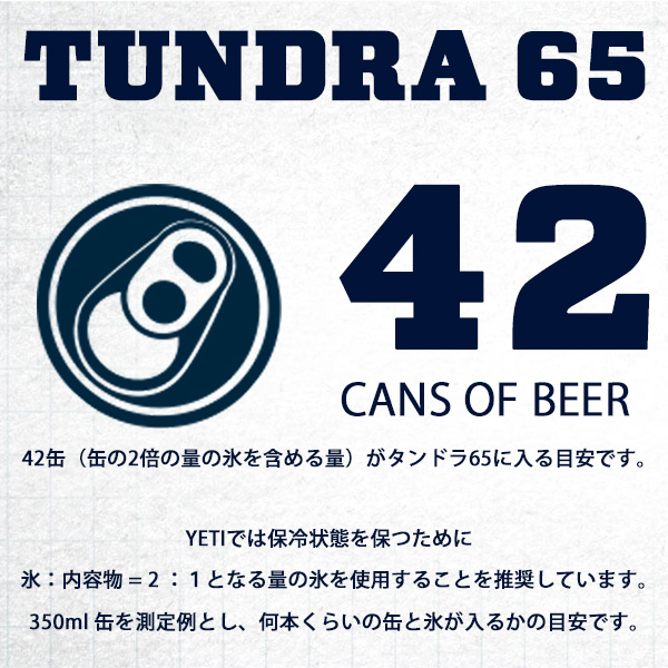 イエティ クーラーボックス タンドラ65 タン