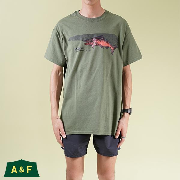 カブー メンズ サーモン Tシャツ ミリタリーグリーン XLサイズ