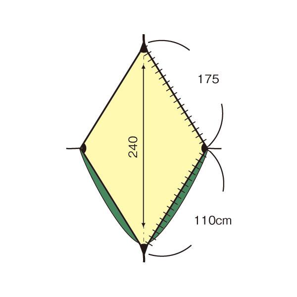 ヘネシーハンモック ウルトラライトバックパッカー A-SYM ZIP