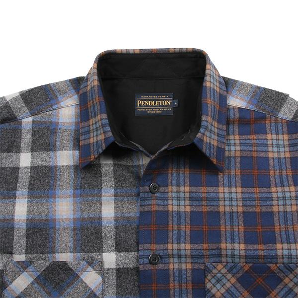 ペンドルトン メンズ ニューアーバンパイオニアシャツ ジャパンフィット RC400 ブルー 10165 XLサイズ