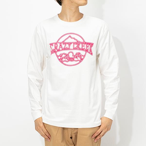 クレイジークリーク メンズ Neonロングスリーブ Tシャツ