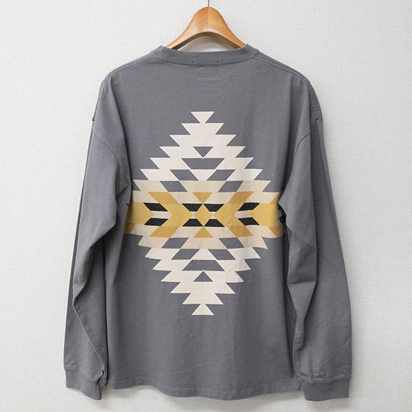 ペンドルトン メンズ ロングスリーブ バックプリントTシャツ