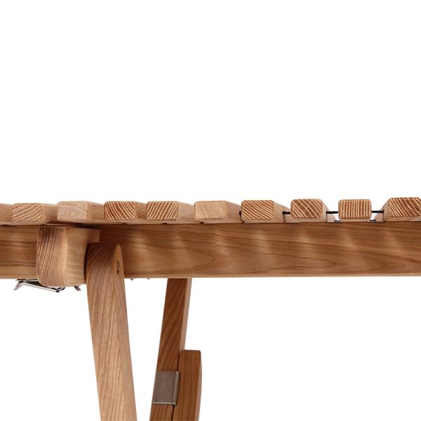 バイヤー パンジーン ロールトップテーブル ホワイトアッシュ