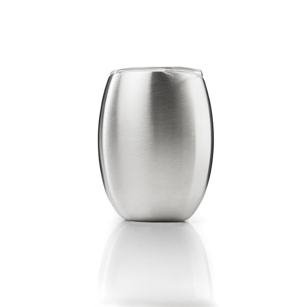ジーエスアイ グレイシャーステンレスダブルウォールワイングラス