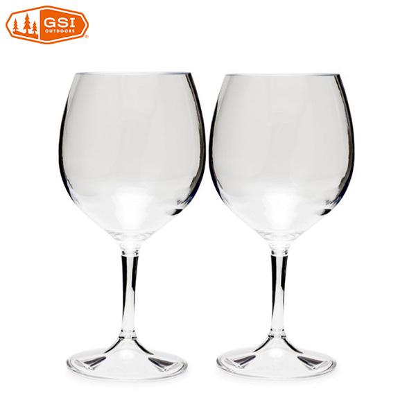 ジーエスアイ ネスティングレッドワイングラス 2個セット