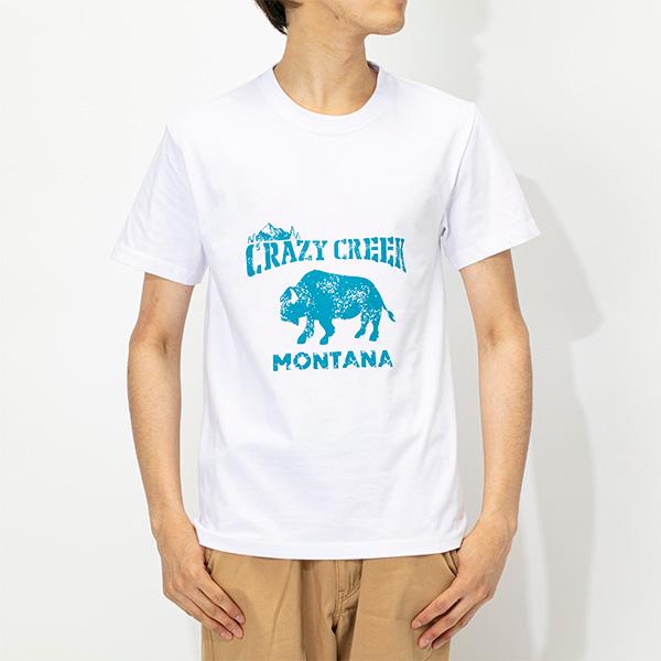 クレイジークリーク メンズ バイソンTシャツ