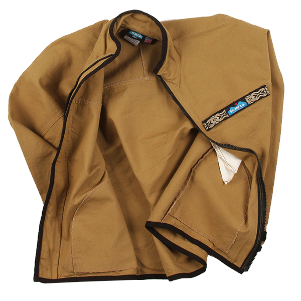 カブー メンズ 10oz スローシャツ フルジップ